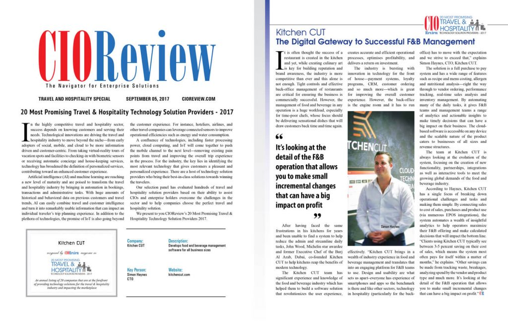 CIO Review Article - August 2017