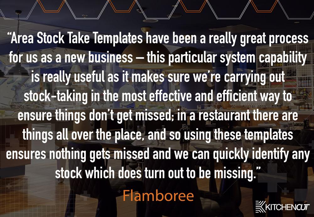 Flamboree - Stock Taking Testimonial