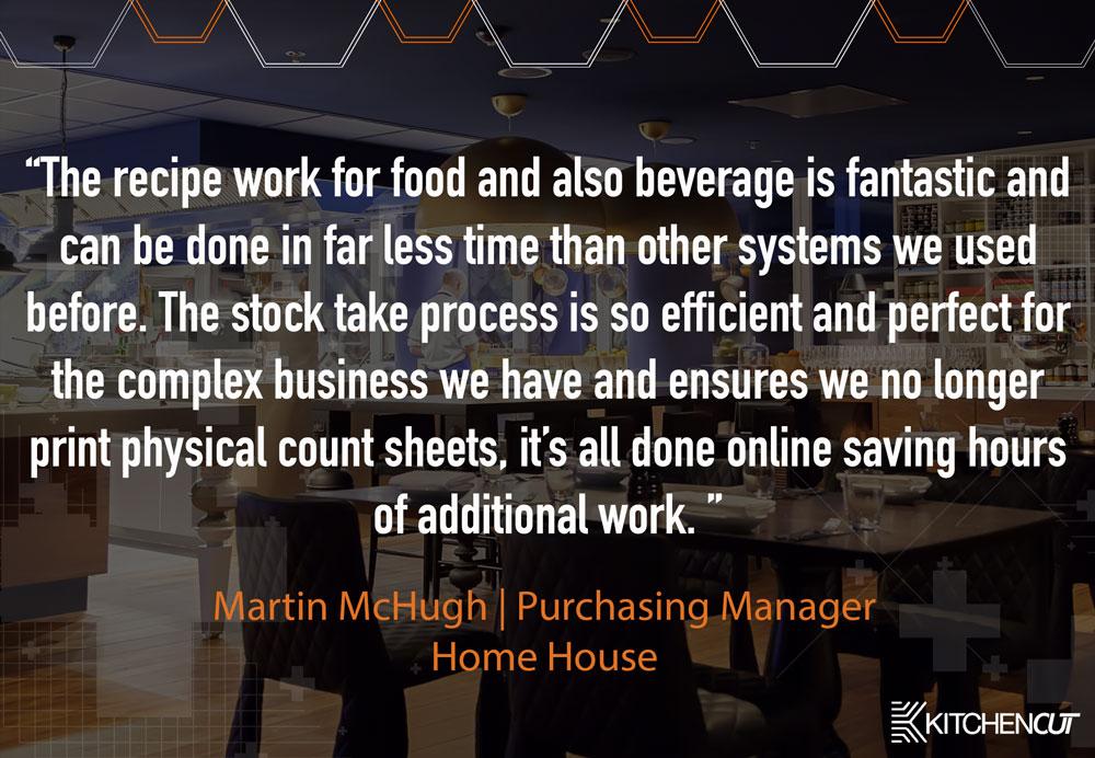 Home House - Stock Taking Testimonial