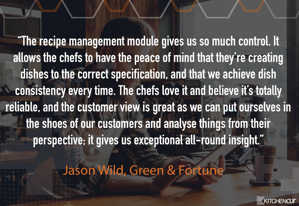 Green & Fortune - Recipe Management Testimonial